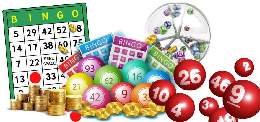 table for bingo playing